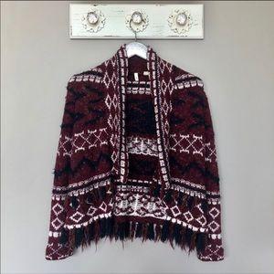 Anthro Moth | Fringed Veras Cardigan Sweater